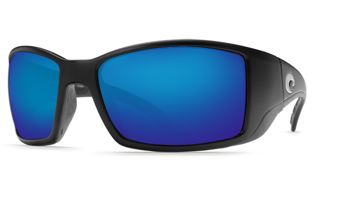 Costa del Mar Blackfin Black 400P Blue Mirror Lens